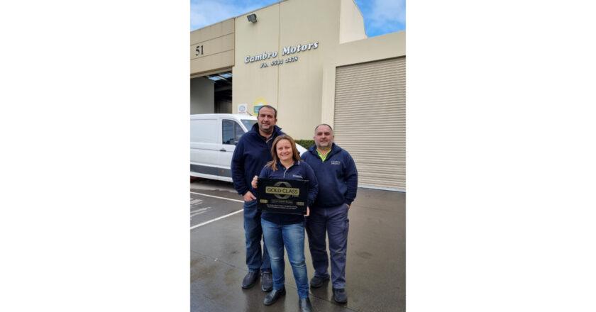 I-CAR Awards Gold Class To Cambro Motors
